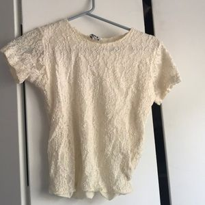 Tops - Short pearl white top